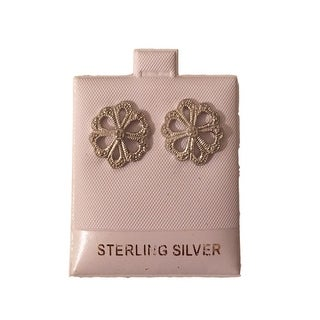 eli k Womens Sterling Silver Diamond Stone Filigree Earring