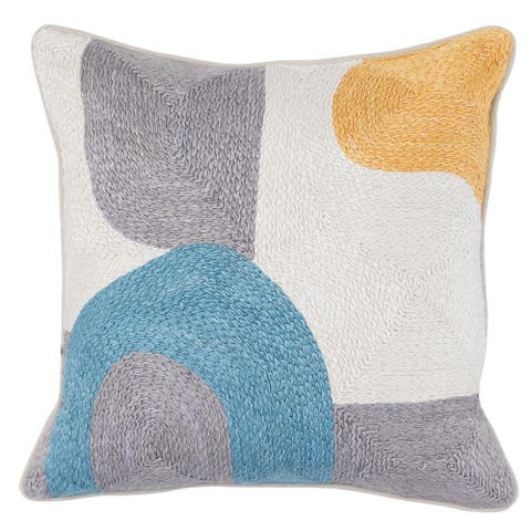 Kosas Home Hedley Embroidered 18-inch Throw Pillow