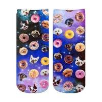 Living Royal Photo Print Ankle Socks: Dog Cravings - Multi