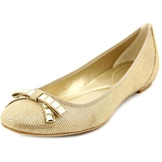 Alfani Juxton Women Round Toe Synthetic Gold Flats
