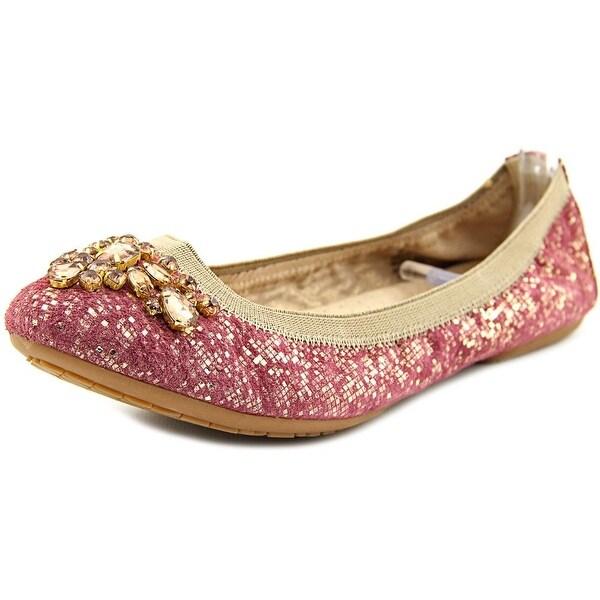 White Mountain Careilla Women Round Toe Suede Pink Ballet Flats