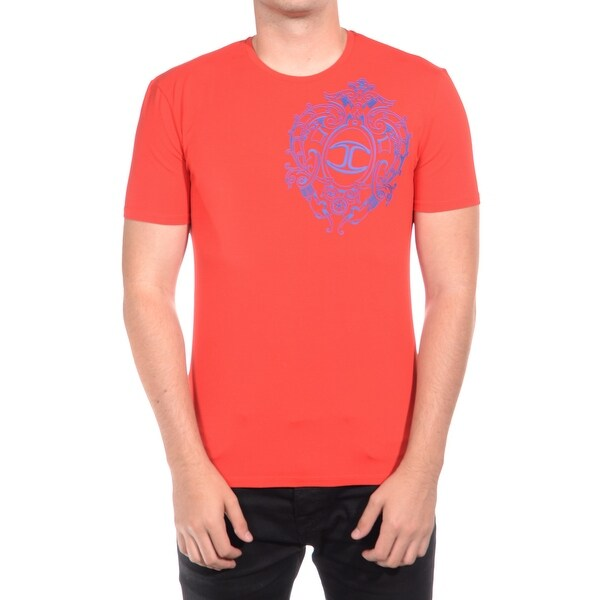Just Cavalli Men's Classic Fit Jersey Tee T-Shirt Royal Red