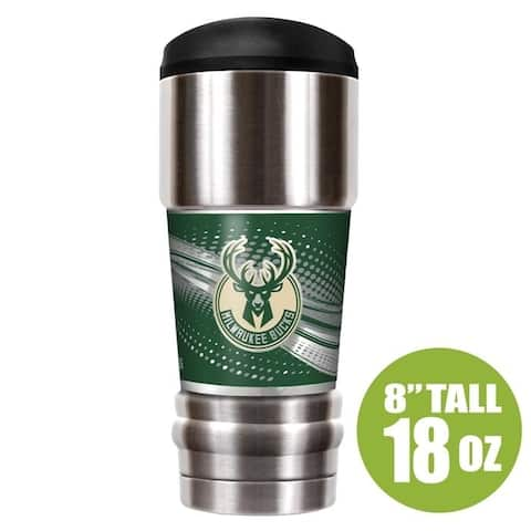 NBA Milwaukee Bucks 18 oz Vacuum Insulated MVP Tumblr, Silver