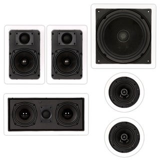 Theater Solutions TST55 In-Wall/Ceiling 1150W Home Theater 5.1 Speaker System