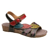 Women's Hand-Painted Kukonda Low Wedge Cork Sandals