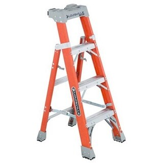 Caddyshack Golf 210952 4 ft. 2 in 1 Cross Step Ladder