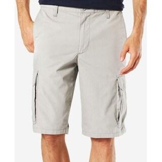 Dockers Men's Core Cargo Shorts Light Grey Size 36