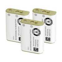 Replacement Battery For Panasonic TYPE 25 Cordless Phones - P103 (750mAh, 3.6V, NiMH) - 3 Pack