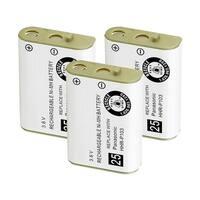 Replacement For Panasonic HHR-P103 Cordless Phone Battery (750mAh, 3.6V, NiMH) - 3 Pack