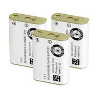 Replacement For Panasonic HHR-P103A Cordless Phone Battery (750mAh, 3.6V, NiMH) - 3 Pack