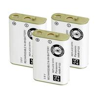 Replacement For Panasonic N4HHGMB00005 Cordless Phone Battery (750mAh, 3.6V, NiMH) - 3 Pack