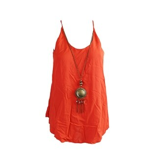 Bcx Juniors Red Sleeveless Necklace Blouse S