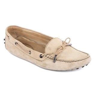 Tods Womens Beige Suede Gomino Driving Shoes