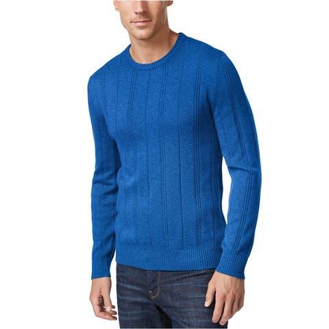 John Ashford Mens Stripe-Texture Pullover Sweater