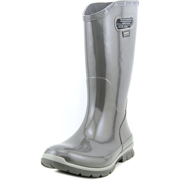 Bogs Berkley Women Round Toe Synthetic Gray Rain Boot