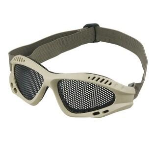 Outdoor Adjusting Gray Elastic Band Mesh Goggles Khaki
