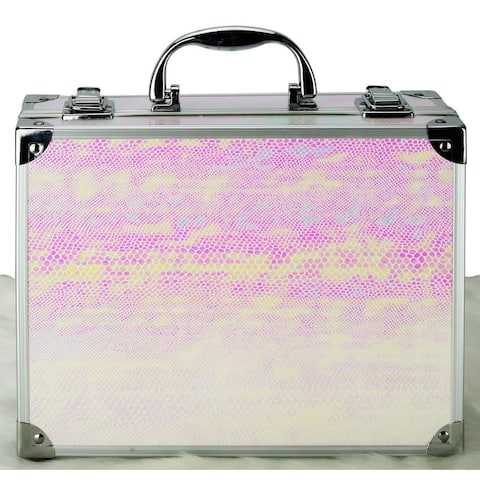 VER Beauty Portable Snake Pastel 58 Pieces Makeup Gift Set with Mirror - Pink/Yellow