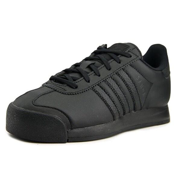 Adidas Samoa J Round Toe Leather Sneakers