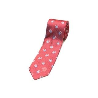Versace Men's Men's Slim Silk Neck Tie Red-Blue
