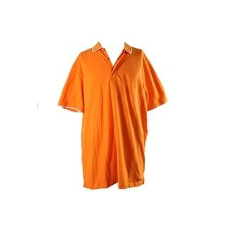 Sean John Vibrant Orange Short-Sleeve Solid Core Polo Shirt XL