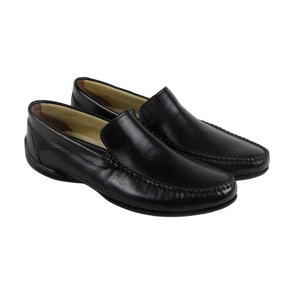 Giorgio Brutini Prentice Mens Black Leather Casual Dress Loafers Shoes