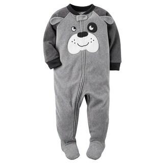 Carter's Little Boys' 1 Piece Dog Fleece Pajamas, 3-Toddler - puppy love