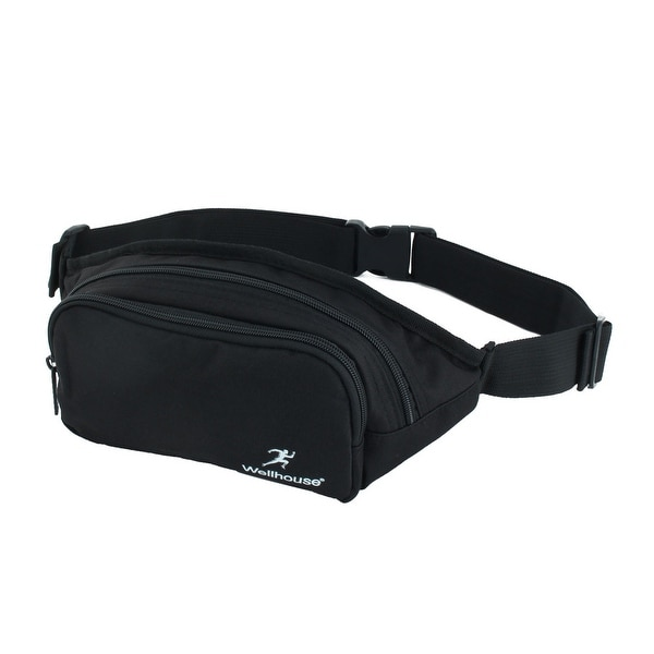 Wellhouse Authorized Running Keys Holder Adjustable Belt Sports Waist Bag Black