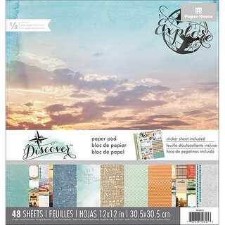 """Paper House Double-Sided Paper Pad 12""""X12"""" 48/Pkg-Discover"""