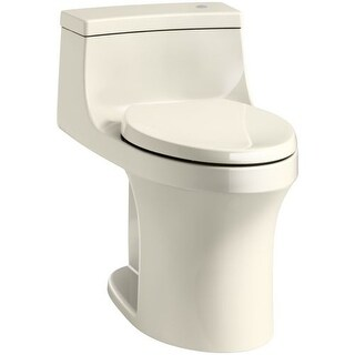 Kohler K-4000 San Souci 1.28 GPF Elongated One-Piece Comfort Height Toilet with Seat and Cover - with Touchless and AquaPiston