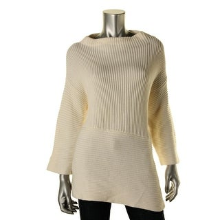 Vince Camuto Womens Ribbed Knit Asymmetric Pullover Sweater