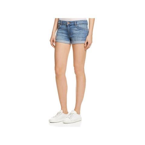 DL1961 Womens Renee Denim Shorts Denim Light Wash