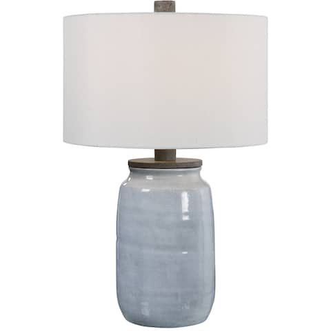 Uttermost Dimitri Light Blue Table Lamp