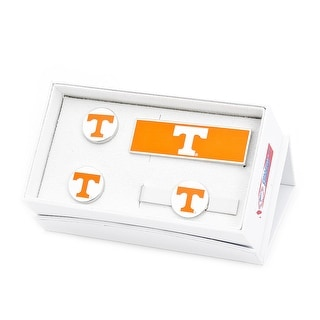 University of Tennessee Volunteers Cufflinks, Money Clip, Tie Bar Gift Set - Yellow