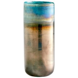 "Cyan Design 10010  Reina 5-1/2"" Diameter Glass Vase - Pyrite"