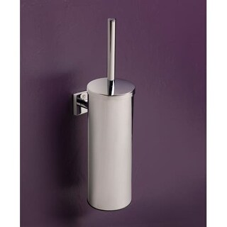 """Bissonnet 754710 Quaruna 15-1/2"""" Wall Mounted Toilet Brush Holder with Integrated Lid - n/a"""