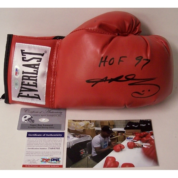 5f0c8fdc3c5 Shop Sugar Ray Leonard Autographed Hand Signed Everlast Boxing Glove -  PSA DNA - Free Shipping Today - - 13076387
