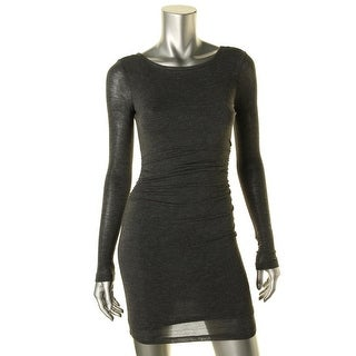 Guess Womens Ruched V Back Clubwear Dress - XS
