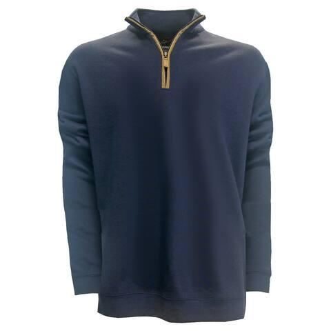 Greg Norman Rib Knit 1/4 Zip Mock Pullover Sweater