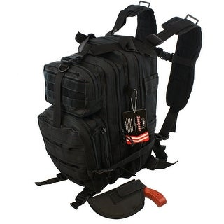 Waterproof Concealed Carry Tactical Assault Molle Backpack w/ Holster  Day Carry - Black