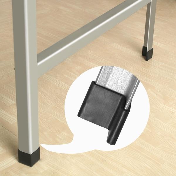 10 Pcs Black Rubber 25mm x 25mm Furniture Chair Legs Covers Protectors