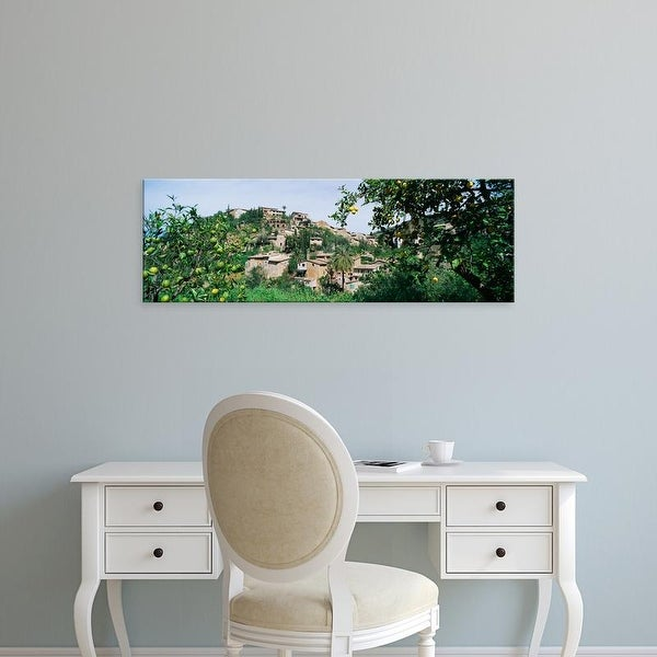 Easy Art Prints Panoramic Images's 'Buildings in a town, Village of Artists, Deia, Majorca, Spain' Premium Canvas Art