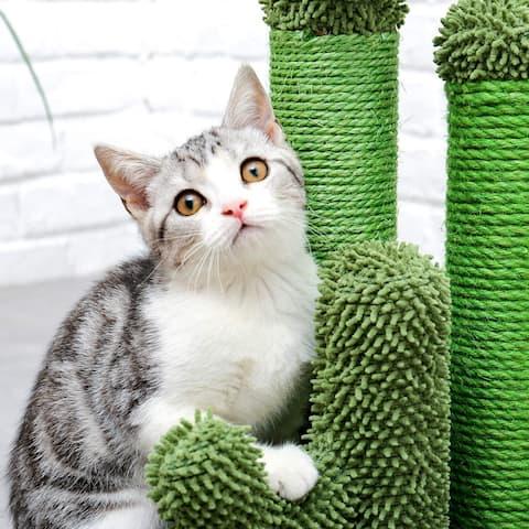 Cat Scratching Post Cactus Cat Scratcher - Green