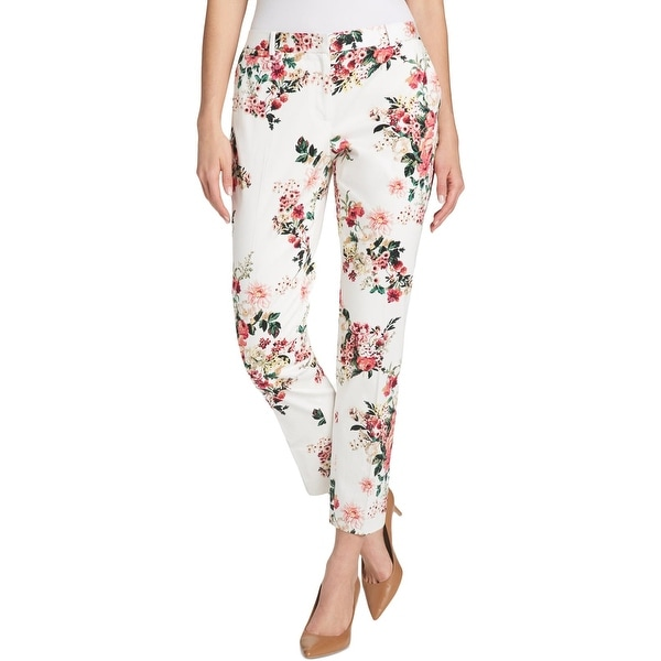 ecaa1d3b4 Shop Tommy Hilfiger Womens Ankle Pants Floral Print Slim Leg - Free  Shipping On Orders Over $45 - Overstock - 27588763