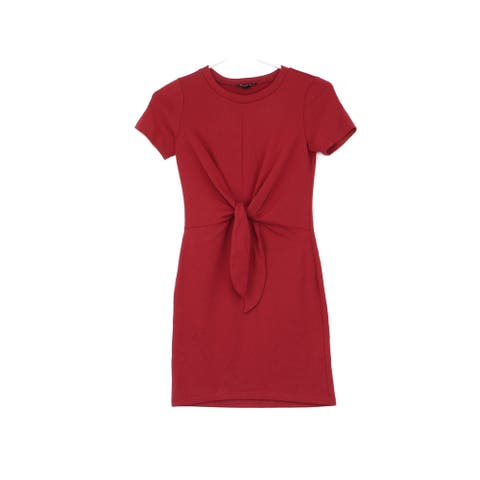 BCX Red Short Sleeve Above The Knee Dress SP