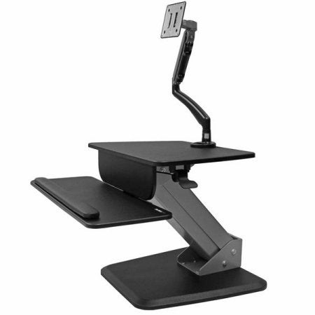 Startech Bndstsslim Sit-To-Stand Workstation With Articulating Monitor Arm
