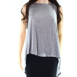 1 State NEW Heather Gray Womens Size Small S Asymmetrical Tank Top