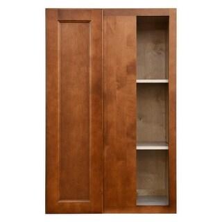 "Sunny Wood ESW3042BC-A Ellisen 27"" x 42"" Blind Corner Wall Cabinet - amber spice"