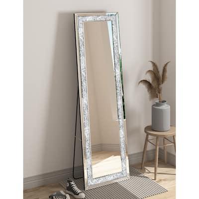 KOHROS Modern Rectangle Diamond Floor Mirror