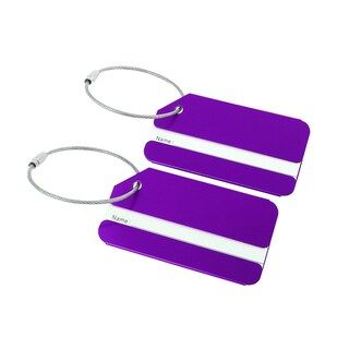 2pcs Travel Luggage Tags Card Holder Bag Suitcase Baggage Name Address ID Labels