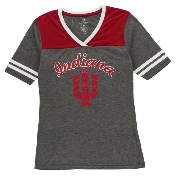 Shop Colosseum Womens Indiana University Arch T Shirt Heather Grey -  heather grey red white - m - Free Shipping On Orders Over  45 - Overstock -  22613178 465a3000f